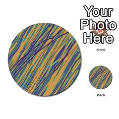 Blue and yellow Van Gogh pattern Multi-purpose Cards (Round)