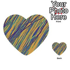 Blue and yellow Van Gogh pattern Multi-purpose Cards (Heart)