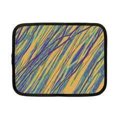 Blue and yellow Van Gogh pattern Netbook Case (Small)