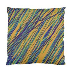 Blue and yellow Van Gogh pattern Standard Cushion Case (Two Sides)