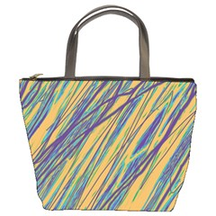 Blue and yellow Van Gogh pattern Bucket Bags