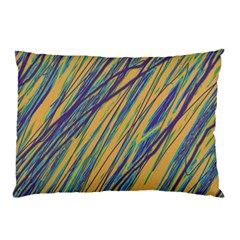 Blue and yellow Van Gogh pattern Pillow Case