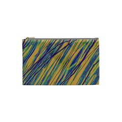 Blue and yellow Van Gogh pattern Cosmetic Bag (Small)