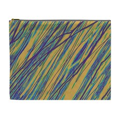 Blue and yellow Van Gogh pattern Cosmetic Bag (XL)