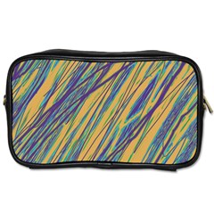 Blue and yellow Van Gogh pattern Toiletries Bags 2-Side