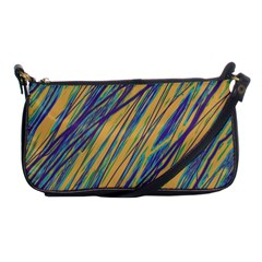 Blue and yellow Van Gogh pattern Shoulder Clutch Bags