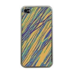 Blue and yellow Van Gogh pattern Apple iPhone 4 Case (Clear)