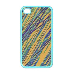 Blue and yellow Van Gogh pattern Apple iPhone 4 Case (Color)