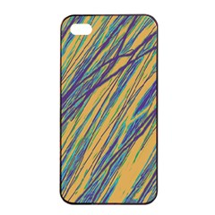 Blue and yellow Van Gogh pattern Apple iPhone 4/4s Seamless Case (Black)