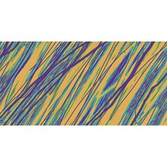 Blue and yellow Van Gogh pattern YOU ARE INVITED 3D Greeting Card (8x4)