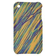 Blue and yellow Van Gogh pattern Apple iPhone 3G/3GS Hardshell Case