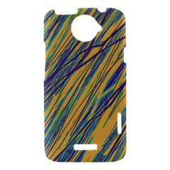 Blue and yellow Van Gogh pattern HTC One X Hardshell Case