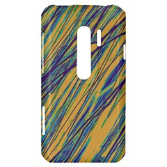 Blue and yellow Van Gogh pattern HTC Evo 3D Hardshell Case