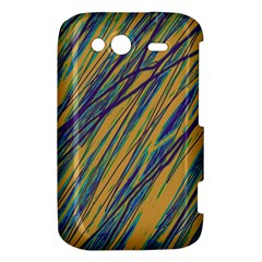 Blue and yellow Van Gogh pattern HTC Wildfire S A510e Hardshell Case