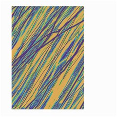 Blue and yellow Van Gogh pattern Large Garden Flag (Two Sides)