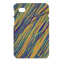 Blue and yellow Van Gogh pattern Samsung Galaxy Tab 7  P1000 Hardshell Case