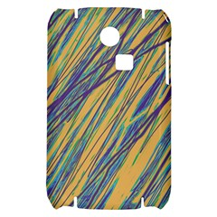 Blue and yellow Van Gogh pattern Samsung S3350 Hardshell Case