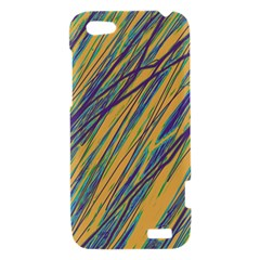 Blue and yellow Van Gogh pattern HTC One V Hardshell Case