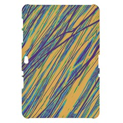 Blue and yellow Van Gogh pattern Samsung Galaxy Tab 10.1  P7500 Hardshell Case