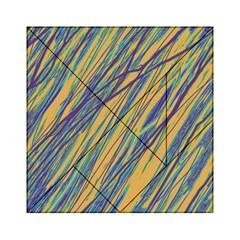 Blue and yellow Van Gogh pattern Acrylic Tangram Puzzle (6  x 6 )