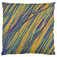 Blue and yellow Van Gogh pattern Large Cushion Case (Two Sides)