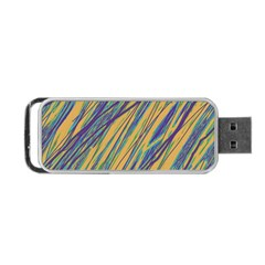Blue and yellow Van Gogh pattern Portable USB Flash (Two Sides)