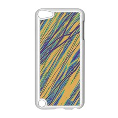 Blue and yellow Van Gogh pattern Apple iPod Touch 5 Case (White)
