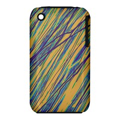 Blue and yellow Van Gogh pattern Apple iPhone 3G/3GS Hardshell Case (PC+Silicone)