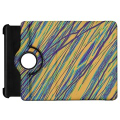 Blue and yellow Van Gogh pattern Kindle Fire HD Flip 360 Case
