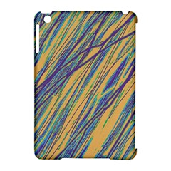 Blue and yellow Van Gogh pattern Apple iPad Mini Hardshell Case (Compatible with Smart Cover)