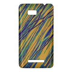 Blue and yellow Van Gogh pattern HTC One SU T528W Hardshell Case
