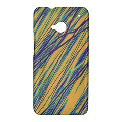 Blue and yellow Van Gogh pattern HTC One M7 Hardshell Case
