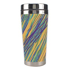 Blue and yellow Van Gogh pattern Stainless Steel Travel Tumblers