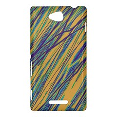 Blue and yellow Van Gogh pattern Sony Xperia C (S39H)
