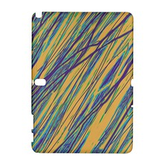 Blue and yellow Van Gogh pattern Samsung Galaxy Note 10.1 (P600) Hardshell Case