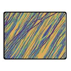 Blue and yellow Van Gogh pattern Double Sided Fleece Blanket (Small)