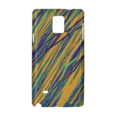Blue and yellow Van Gogh pattern Samsung Galaxy Note 4 Hardshell Case