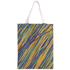 Blue and yellow Van Gogh pattern Classic Light Tote Bag