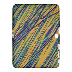 Blue and yellow Van Gogh pattern Samsung Galaxy Tab 4 (10.1 ) Hardshell Case