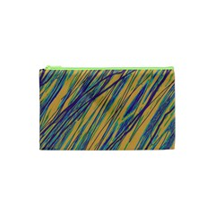 Blue and yellow Van Gogh pattern Cosmetic Bag (XS)