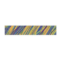 Blue And Yellow Van Gogh Pattern Flano Scarf (mini)