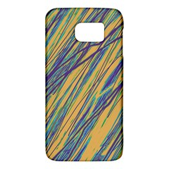 Blue and yellow Van Gogh pattern Galaxy S6
