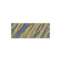 Blue and yellow Van Gogh pattern Satin Scarf (Oblong)