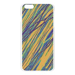 Blue and yellow Van Gogh pattern Apple Seamless iPhone 6 Plus/6S Plus Case (Transparent)