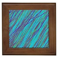 Blue pattern Framed Tiles