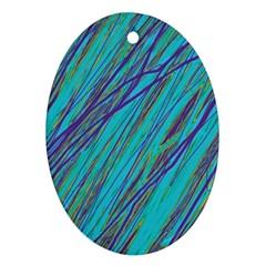 Blue pattern Ornament (Oval)