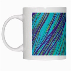 Blue Pattern White Mugs