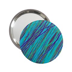 Blue pattern 2.25  Handbag Mirrors