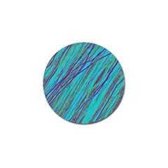 Blue pattern Golf Ball Marker (10 pack)