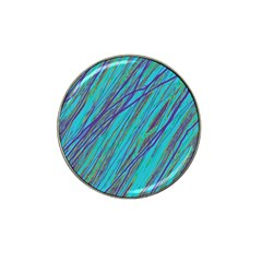 Blue pattern Hat Clip Ball Marker (10 pack)